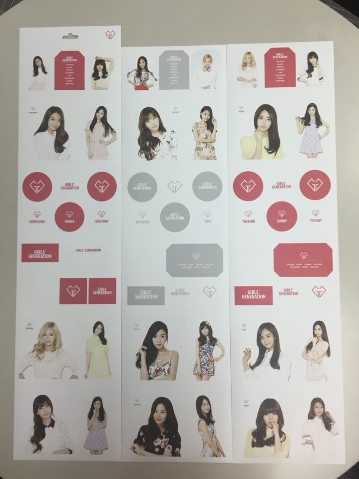 SNSD Long Sticker Set