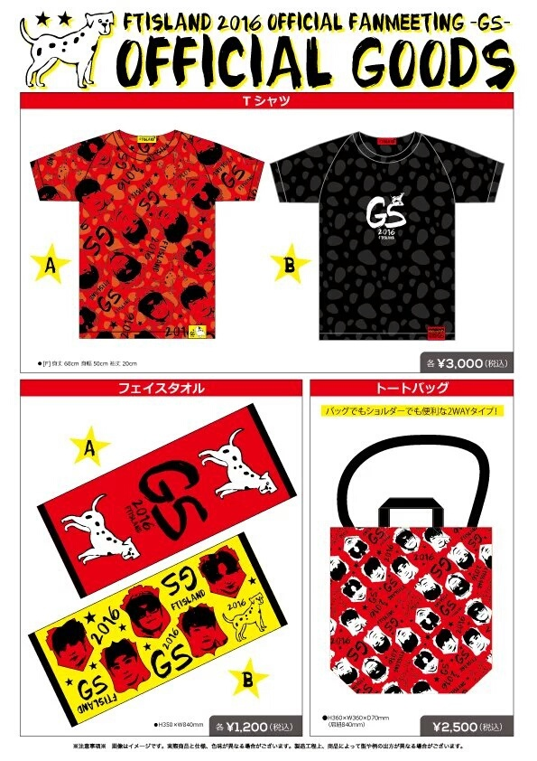 FT ISLAND 2016 OFFICIAL FANMEETING G5 GOODS_1
